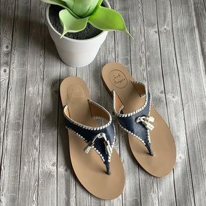 Jack Rogers Megan Navy Blue Tassel Sandals